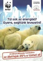 WWF PANDA * POLAR BEAR * ANIMAL * TOYOTA * HYBRID CAR * EstMedia 001 * Hungary - Bears