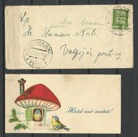 ESTLAND Estonia 1934 Brief O KÕNNU-HARJUMAAL Sent To Valgejõe With Original Content = Post Card Happy New Year! - Estonia
