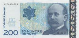 Norway, 200 Kroner, 2009, P#50e, UNC - Norway