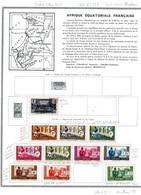 Colonies Françaises AEF 1936/58  69 Timbres Différents  4,70 € (cote 62,35 € 69 Valeurs) - Usati