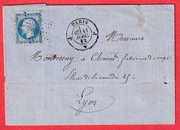 N°14 PICQUAGE SUSSE PARIS ETOILE BUREAU J POUR LYON - 1849-1876: Classic Period
