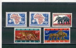 1960 - 1961 - 10e Anniversaire De La Commission De Coopération Technique En Afrique & Animaux Protégés. - 1948-61: Nuovi