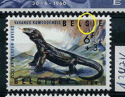 N° 1347 V1 -  G De Belgique Brisé   (**) - Plaatfouten (Catalogus OCB)