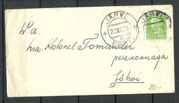 Estonia Estland 1936 O JÄRVE Domestic Cover To Jõhvi Michel 114 As Single - Estonia