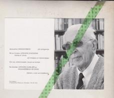 Daniël Lefevere-Vanhaverbeke, Roeselare 1923, 2012. Onderwijzer, Erepoorter, Oud-scout - Obituary Notices