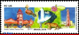 Ref. BR-V2018-15 BRAZIL 2018 - GUYANA, TOURISM, BIRDS,, LIGHTHOUSE, CATS, BIRDS, FLORA, MNH, RELATIONSHIP 1V - Other