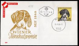 Österreich - 1966 - FDC - 120 Ans De L'Association Viennoise Pour Le Bien-être Des - Honden