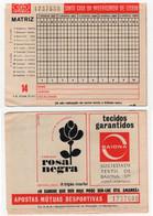 Totobola Matriz 14 Dezembro De 1973 Triple Marfel Rosa Negra Tecidos Baiona - Lottery Tickets