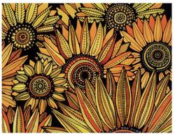 (NN 8) Postcard Posted 10-09-2020 In Ukraine - Arrive In Australia 09-4-2021 - COVID-19 Slow Mail ! Sunflower - Flowers