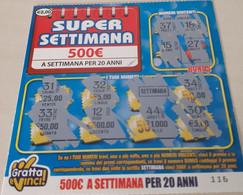 Gratta E Vinci Usato Super Settimana Da 2,00 Euro - Lottery Tickets