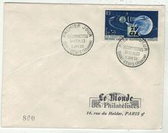 France // FDC 1960-1969 // Télécommunications Spatiales, Le Monde Des Philatélistes 2//1/1963 - 1960-1969