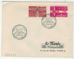 France // FDC 1960-1969 //Aviation Légère Et Sportive, Le Monde Des Philatélistes 12//5/1962 - 1960-1969