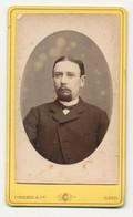 Oude Foto Op Karton: Man - Fotograaf Cornand - Gent Gand - Old (before 1900)