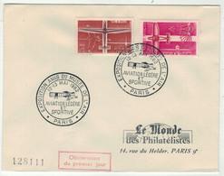 France // FDC 1960-1969 //Aviation Légère Et Sportive, Le Monde Des Philatélistes 12-13//5/1962 - 1960-1969