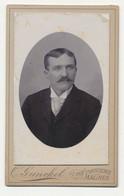 Oude Kabinet Foto Op Karton: Man - Fotograaf Otto Gunckel - Malines Mechelen - Old (before 1900)