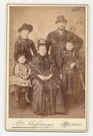 Oude Kabinet Foto Op Karton: Gezin - Fotograaf Alphonse Scheffermeyer - Malines Mechelen - Old (before 1900)
