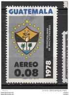 ##14, Guatemala, Armoiries, Coat Of Arms, Palmier, Palm Tree, Cerf, Deer, Gibier - Guatemala