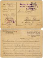 """FRANCE - 1915 """"Service Gratuit / Mairie De LILLE / 2 Août 15"""" Sur CP Du Camp De Prisonniers D'HAVELBERG Pour Fives-Lille - 1. Weltkrieg 1914-1918"""