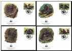 Rwanda 1985 FDC Set X4 WWF W.W.F. Mountain Gorilla Monkey Fauna - FDC