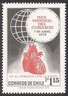 Chile 1972 MNH, World Heart Month, Medicine, Health - Disease