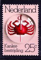 Netherlands 1974 MNH, Anti Cancer, Disease, Medicine - Disease
