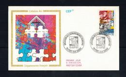 FDC-1174**FRANCE 1990 *Depatements Francais FDC W CEF CACHET - 1990-1999