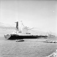Negatif Photo Original - Navire Pétrolier Shell MAGDALA à Fos Sur Mer - Boats