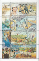 Libya 1993, Bird, Birds, Eagle, M/S Of 16v, MNH** - Eagles & Birds Of Prey