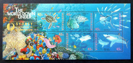 Australia 1995 MiNr. 1505 - 1516 (Block 20 II) Australien Marine Life Fishes Overprint (SYDNEY Stamp Show) S\sh 8,00 € - Fishes