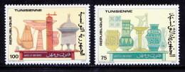 Tunesia 1990 MNH 2v, Handicrafts, Antique Utensils, Glass, Jug, Corner - Glasses & Stained-Glasses