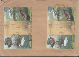 Moldova 2012, Bird, Birds, Pelican, Postal Used Cover To Hong Kong. - Pelicans