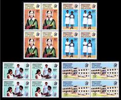 Virgin Island 1983 MNH 4v Blk 4, Florence Nightingale, Nursing Hospital, Medicine, Blood Pressure, Ambulance - First Aid