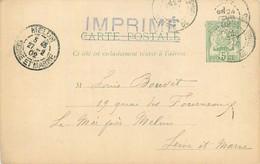 TUNISIE - REGENCE DE TUNIS - ENTIER POSTAL CARTE POSTALE  - 5 Centimes VERT - CIRCULEE Vers FRANCE - 1902. - Covers & Documents