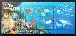 Australia 1995 MiNr. 1505 - 1516 (Block 20 II) Australien Marine Life Fishes Overprint (SYDNEY Stamp Show) S\sh 8,00 € - Philatelic Exhibitions