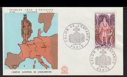 France FDC 1966 L'Empire Europeen De Charlemagne (G129-56) - 1960-1969