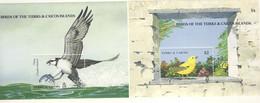 TURKS ET CAICOS 1990 OISEAUX  YVERT N°84-88 NEUF MNH** - Zonder Classificatie