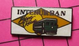 113C Pin's Pins / Beau Et Rare / THEME : TRANSPORTS / TRAMWAY USA VERT INTERURBAN EATING HOUSE - Transportation