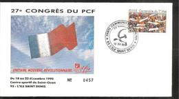 FDC 1990  27 Congrès Du  P C F - 1990-1999