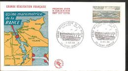 FDC 1966 Usine Marémotrice De La Rance - 1960-1969