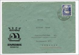 DEUTSCHLAND/ DDR -  Köpfe I - Freimarken 1948 - Michel # 224  Auf  Brief Vom  13.1.1950 In Die Schweiz - 1201 - Cartas