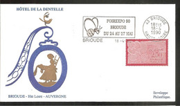 FDC 1990  HOTEL DE LA DENTELLE - 1990-1999