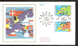 FDC 1990  Conseil De L Europe - 1990-1999