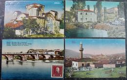 MACEDONIA Postcard LOT 4x SKOPJE ÜSKÜB - Macedonia
