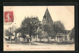 CPA Marcilly, Place De L`Église - Marcilly