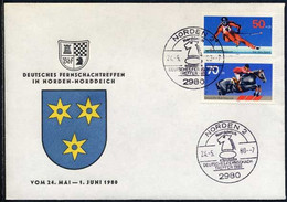 ECHECS - CHESS - SCHACH / 1980 ALLEMAGNE OBLITERATION ILLUSTREE SUR ENVELOPPE (ref 8215e) - Chess