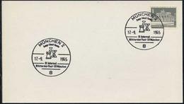 ECHECS - CHESS - SCHACH / 1965 ALLEMAGNE OBLITERATION ILLUSTREE SUR CARTE  (ref 8215a) - Chess