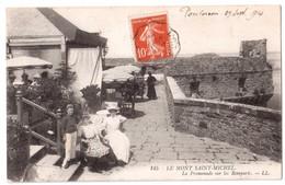 Le Mont-Saint-Michel - La Promenade Sur Les Remparts - édit. LL. Lévy 145 + Verso - Le Mont Saint Michel