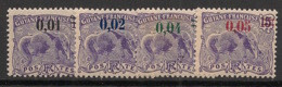 Guyane - 1922 - N°Yv. 91 à 94 - Série Complète - Neuf Luxe ** / MNH / Postfrisch - Unused Stamps