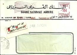 Lettre  EMA Secap 1966 Banque Nationale Agricole Tunis Tunisie  C38/16 - Zonder Classificatie