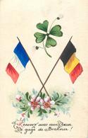 Guerre 14/18 - Fantaisie - 1914 - Carte Dessinée - Recevez Avec Mon Coeur Ce Gage De Bonheur - Patriotiques